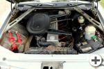 Gewachster Motorraum